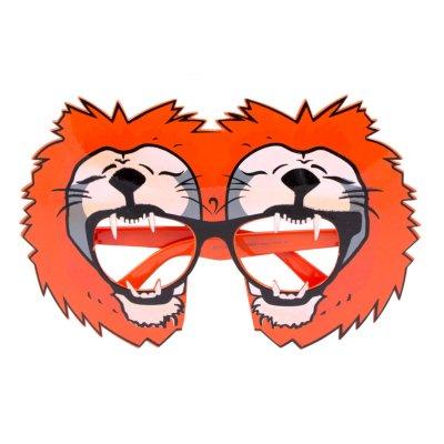 Bril oranje leeuw