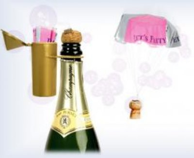 Champagne parachute