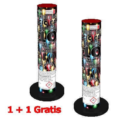 China Red Magic Candle 1+1 gratis