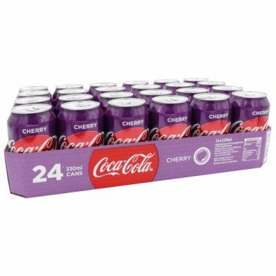 Coca-Cola Cherry blik 33cl Tray 24 stuks