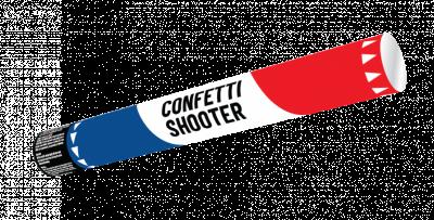 Confetti Shooter 20cm R,W,B