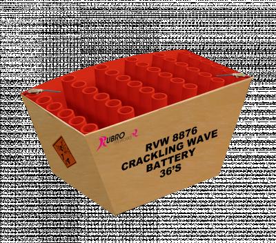 Crackling wave battery