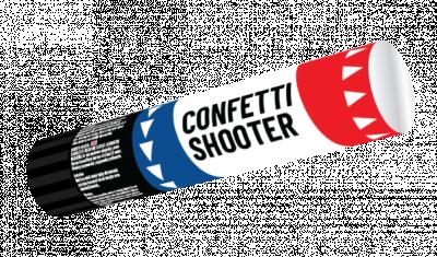 Confetti shooter 20 cm R-W-B