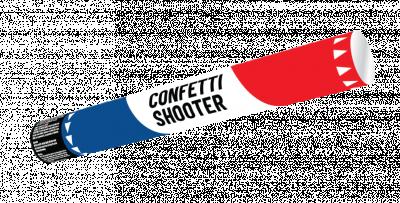 Confetti shooter 40 cm R-W-B