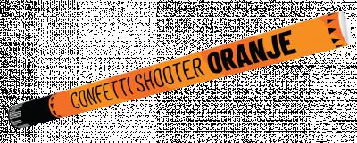 Confetti shooter 80 cm Oranje