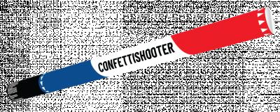 Confetti shooter 80 cm R-W-B