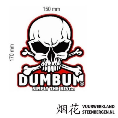 DumBum Sticker 17 x 15 cm