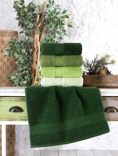 Ephemeris Handdoek Zacht Katoen 4 Stuks 50x90cm groen