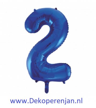 Foli ballon 2 blauw