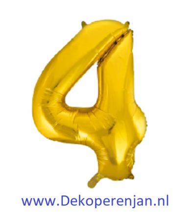 Foli ballon 4 goud