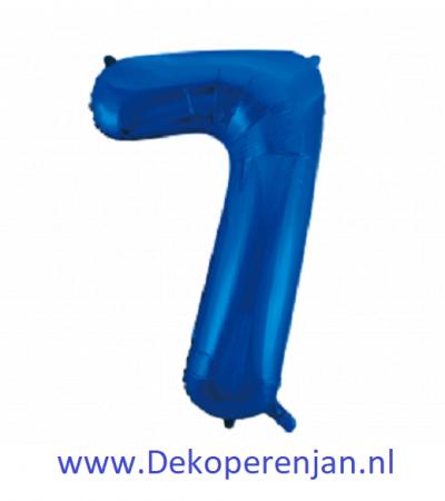 Foli ballon 7 blauw