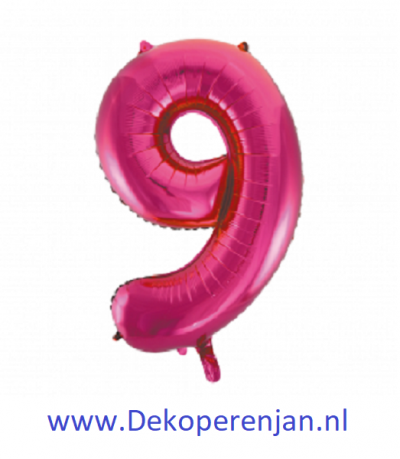 Foli ballon 9 rose