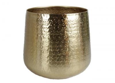 Gina Da bloempot Karakter D 26 H 30 cm goud
