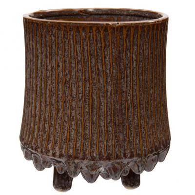 Intratuin bloempot op poten Guy paars D 18 H 19 cm