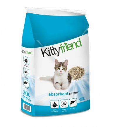 Kitty Friend kattenbakvulling absorberend 30 L - 2 stuks