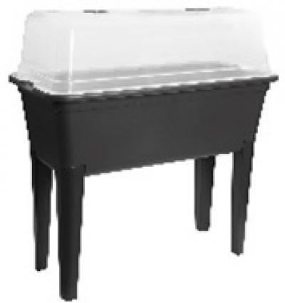Kweektafel met deksel zwart