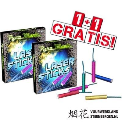 Laser Sticks / 2E GRATIS!