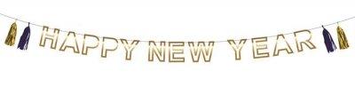 "Letterslinger ""Happy New Year"" met tassels"