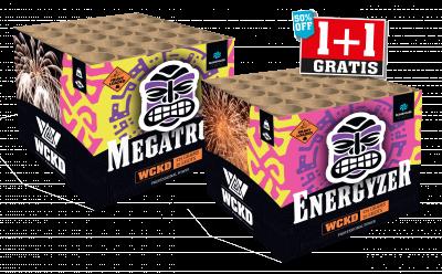 Energyzer & Megatron 1+1 gratis