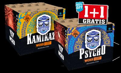 Psycho & Kamikaze 1+1 gratis