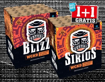 Sirius & The Blizz 1+1 gratis!