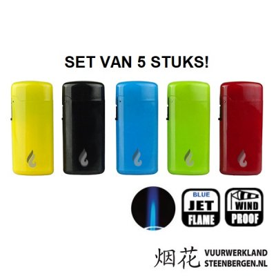 Neon Lighters (set van 5 stuks)