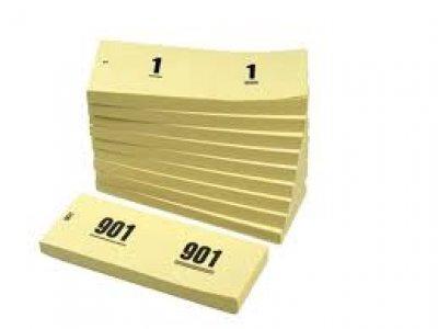 nummerblok geel