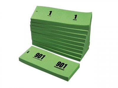 nummerblok groen