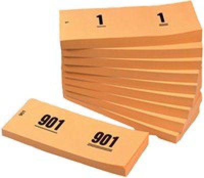 nummerblok oranje