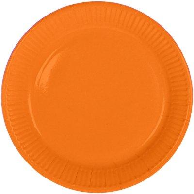 Oranje Borden 23cm - 8 stuks
