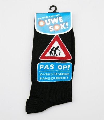 Sokken pas op! overstekende hangoudere (one size)
