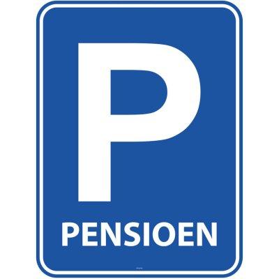 Pensioen Parkeerbord Deurbord