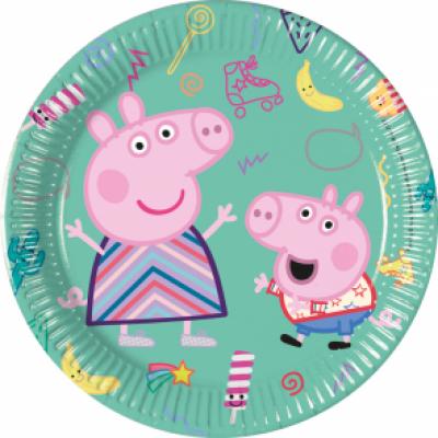 Peppa Pig Bordjes 20cm 8 stuks