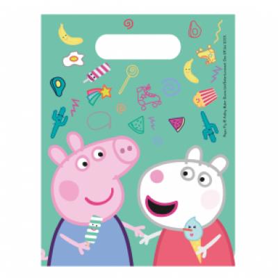 Peppa Pig Uitdeelzakjes 23x16,5cm 6 stuks