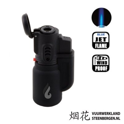 Pocket Torch Black stormaansteker