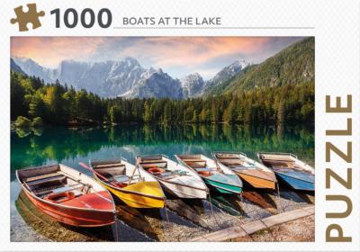 Puzzel 1000 stukjes - Boats at the lake