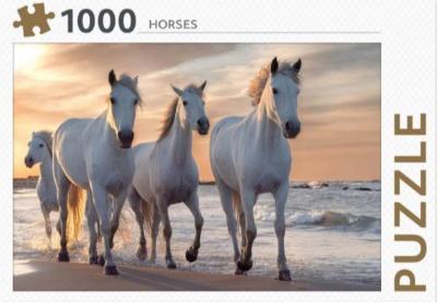 Puzzel 1000 stukjes - Horses