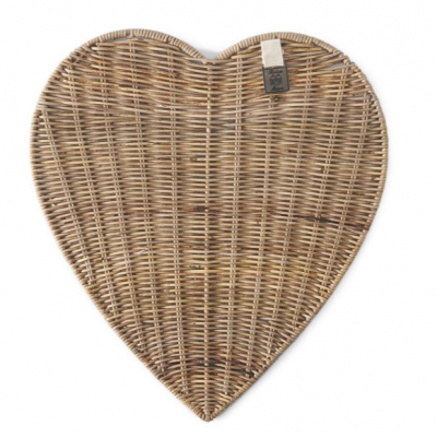 Rustic Rattan Heart Placemat