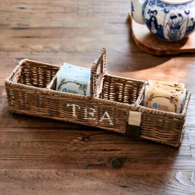 Rustic Rattan Tea Carrier S