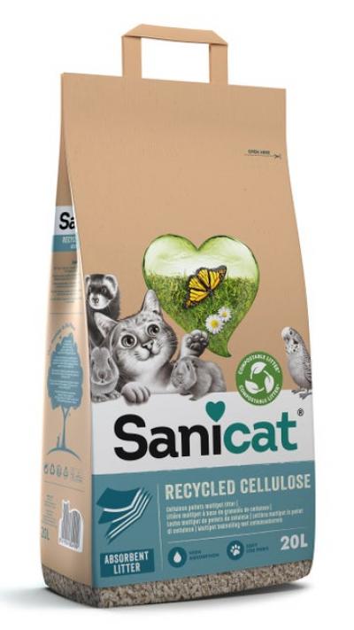 Sanicat kattenbakvulling Recycled Cellulose 20 L (2 stuks €17,99)