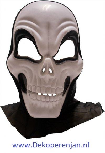 Skull masker met capuchon pvc