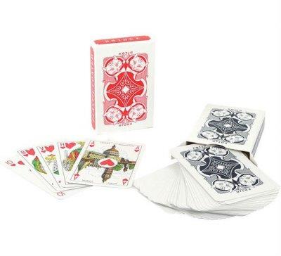 spel kaarten met plastic doosje