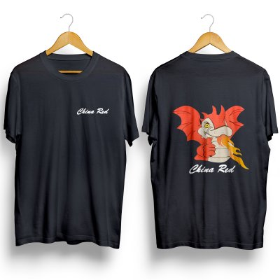 T-Shirt China Red maat M