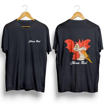T-Shirt China Red maat XXL