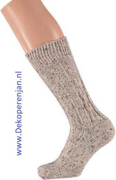 Tiroler shopper sokken beige (mt 43/46)