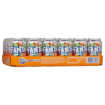 Tray (24) Fanta Zero Orange blik 33cl