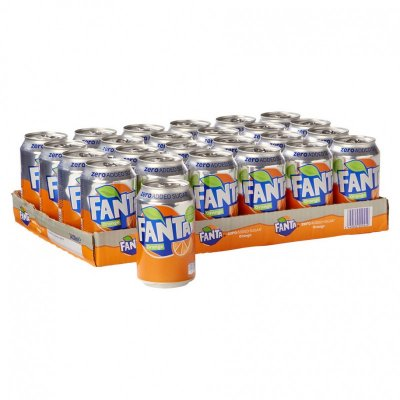 Tray Fanta Orange Zero