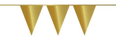 Vlaggenlijn PE goud 10 m