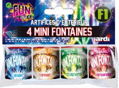 4 mini Fonteinen