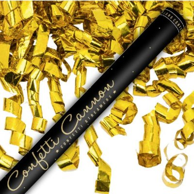 Confetti shooter  80cm gold streamer